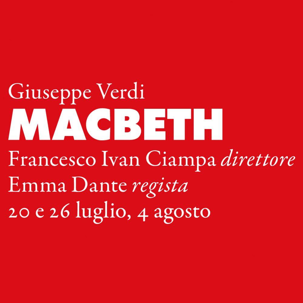 Macbeth Sferisterio 2019